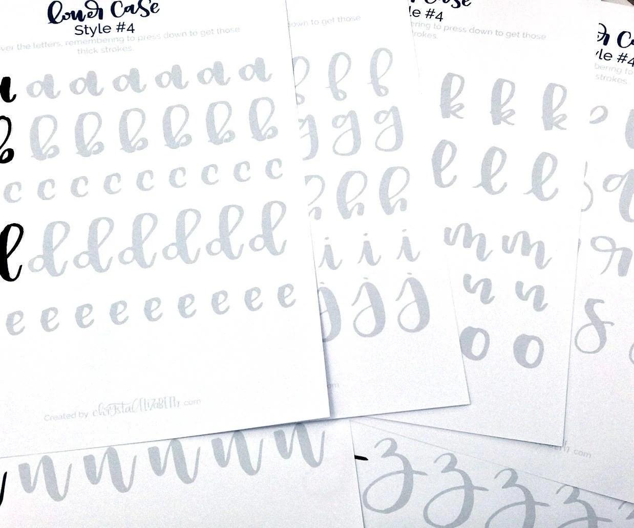 Brush Letter Practice Worksheets