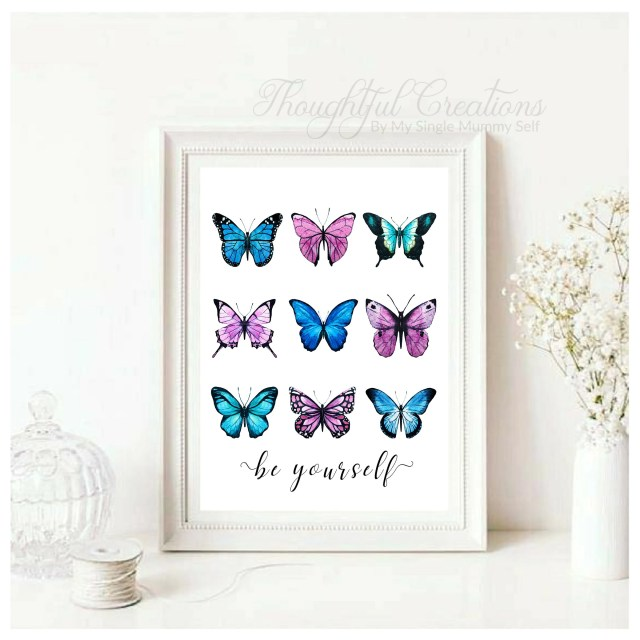 Quote Wall Art, Butterfly...