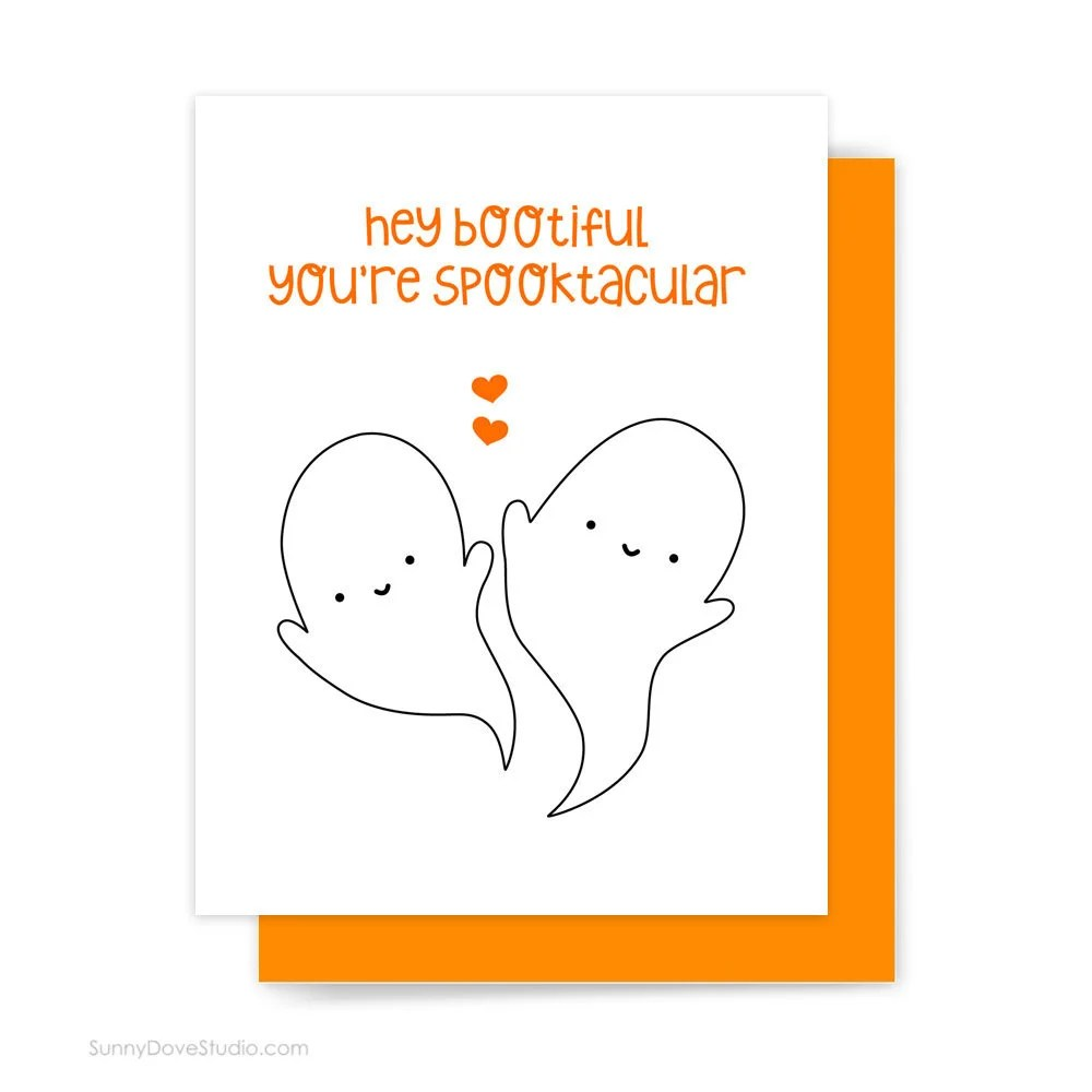 Items Similar To Happy Halloween Card For Girlfriend