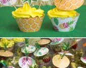 Pineapple Cupcake Toppers...