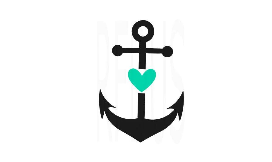 Download anchor with heart svg ocean svg anchor svg beach svg