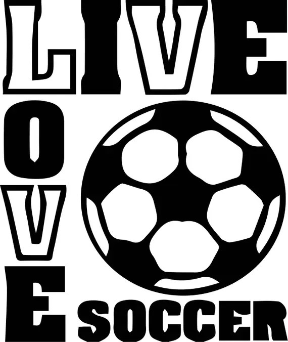 Download Soccer love Svg Files Silhouettes Dxf Files Cutting files