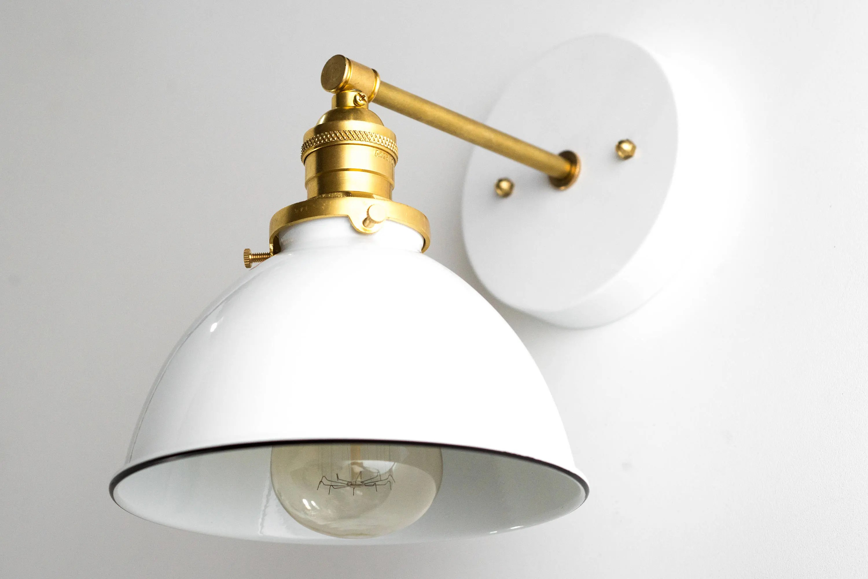 Industrial Sconce Bathroom Wall Light White Sconce on Bathroom Wall Sconce Lighting id=13484