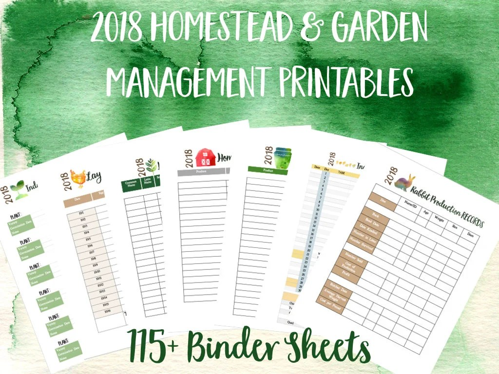 Printable Homestead Binder And Garden Management Planner
