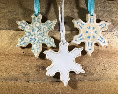 Ceramic Snowflake Ornamen...
