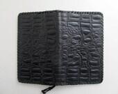 Vintage black leather wal...