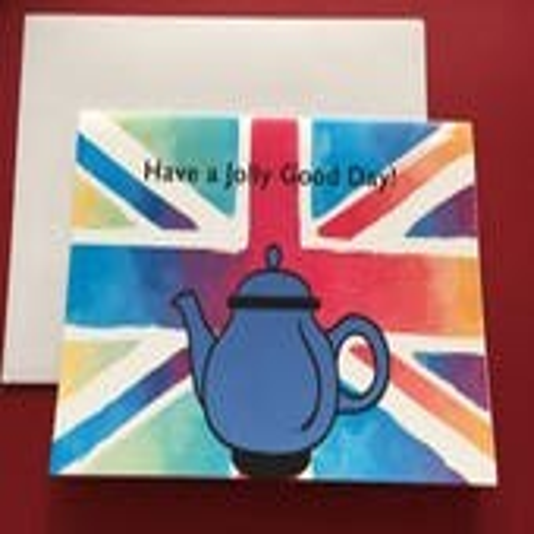 Teapot, British humor car...