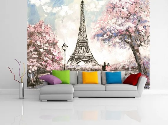 Quality Artistic Wallpaper Peel and Stick Paris Wall Mural by uniQstiQ