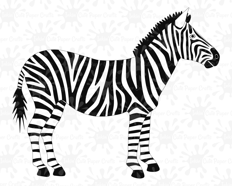 Zebra Clipart Zebra Svg File Zebra Cut File African