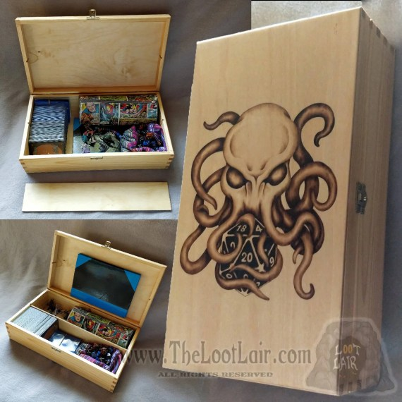 Cthulhu Large Wooden Gaming Box