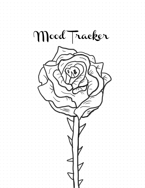 Printable Rose Mood Tracker For Bujo