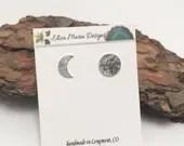 Moon Earrings, Celestial ...