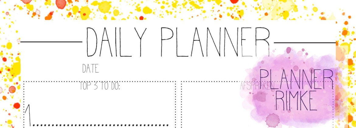 ENG - A5 - Daily planner ...