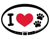MAGNET - I Love Dogs Cats...
