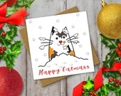 Cat Lovers Christmas Card...