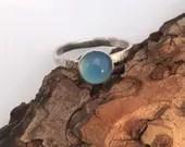 Blue Gemstone Ring, Chalc...