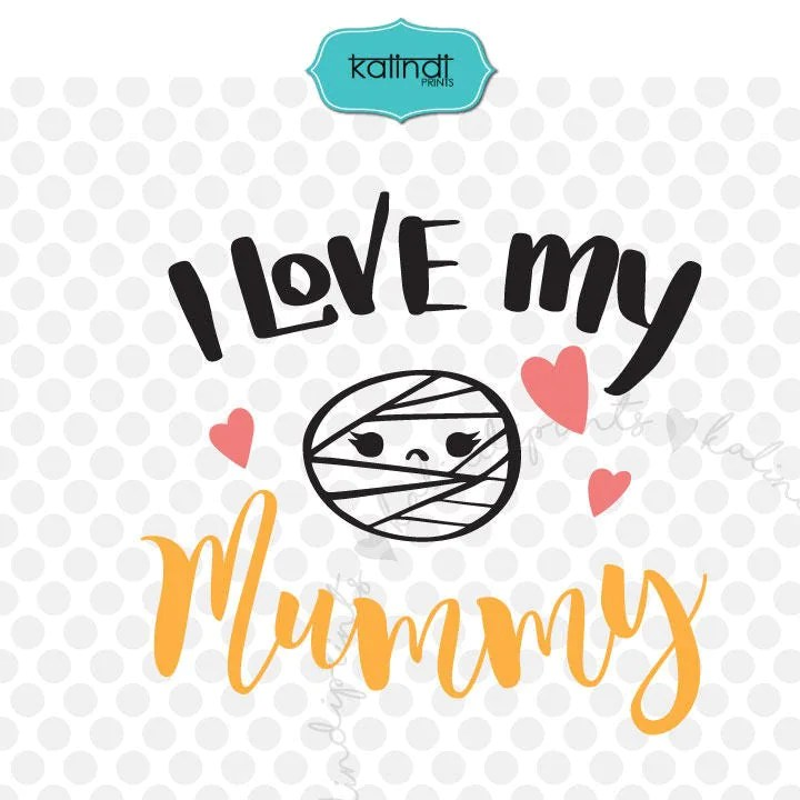 Download I love my mummy svg Halloween svg kids halloween svg