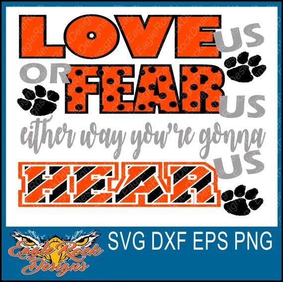 Download Paw Love Us Fear Us SVG DXF EPS Png Cut File Tigers