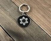 Flower dog tag •  cat t...