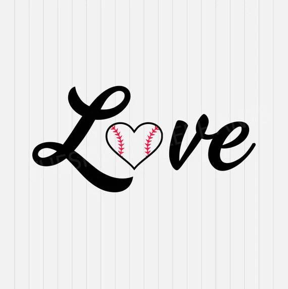 Download Love Baseball svg Baseball Heart svg svg dxf eps png
