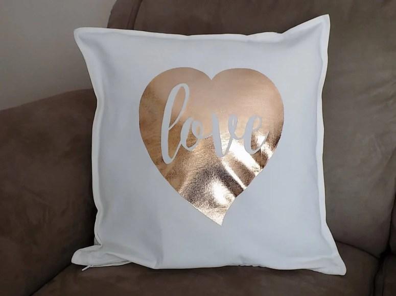 rose gold pillow, rose go...