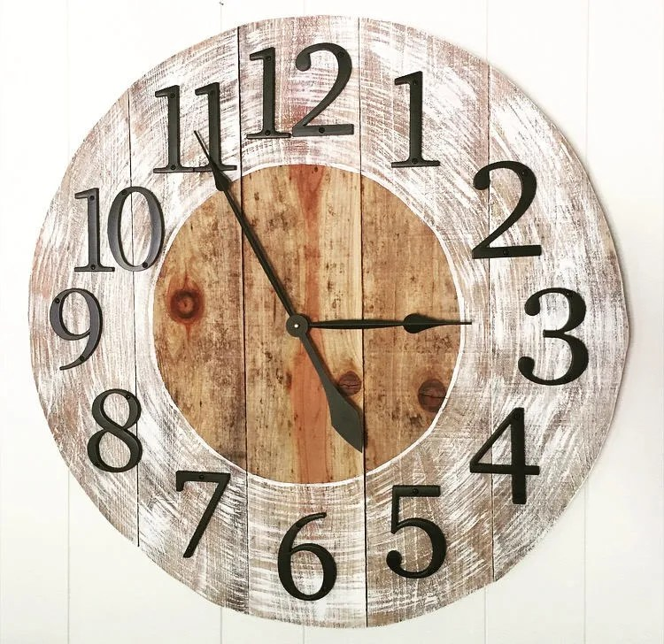 Distressed Clock Etsy