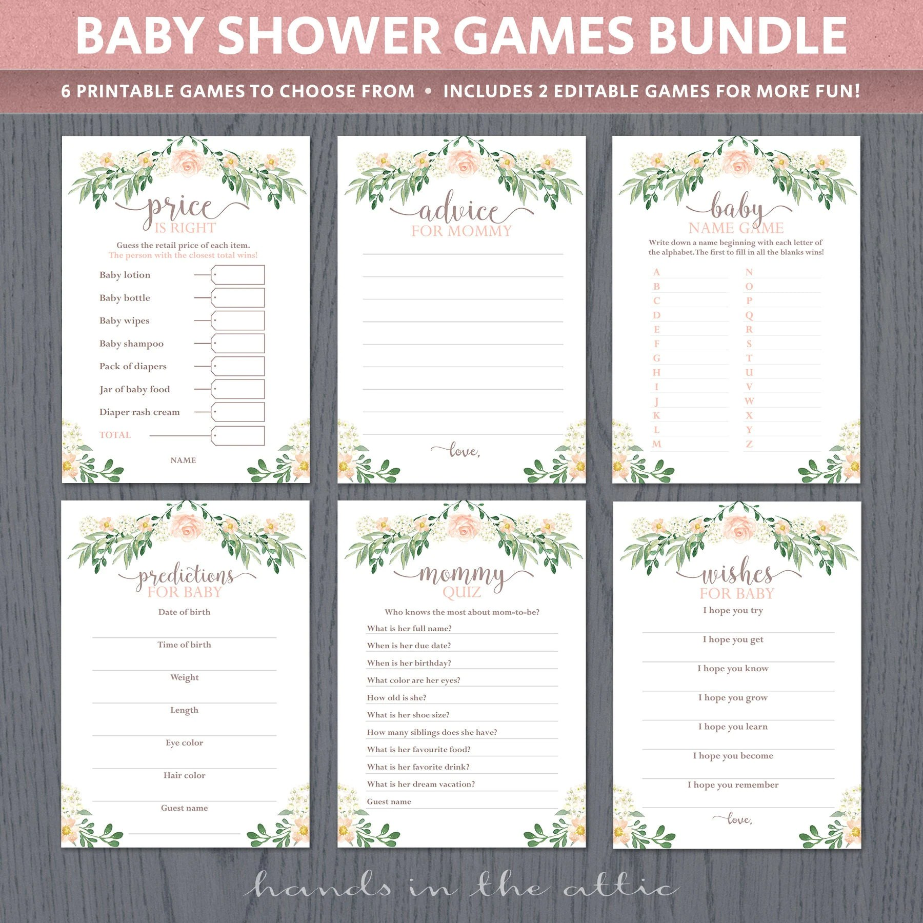 Baby Shower Games Printable Sheets Party Games Easy Unique