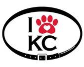 DECAL - I Love KC - Kansa...