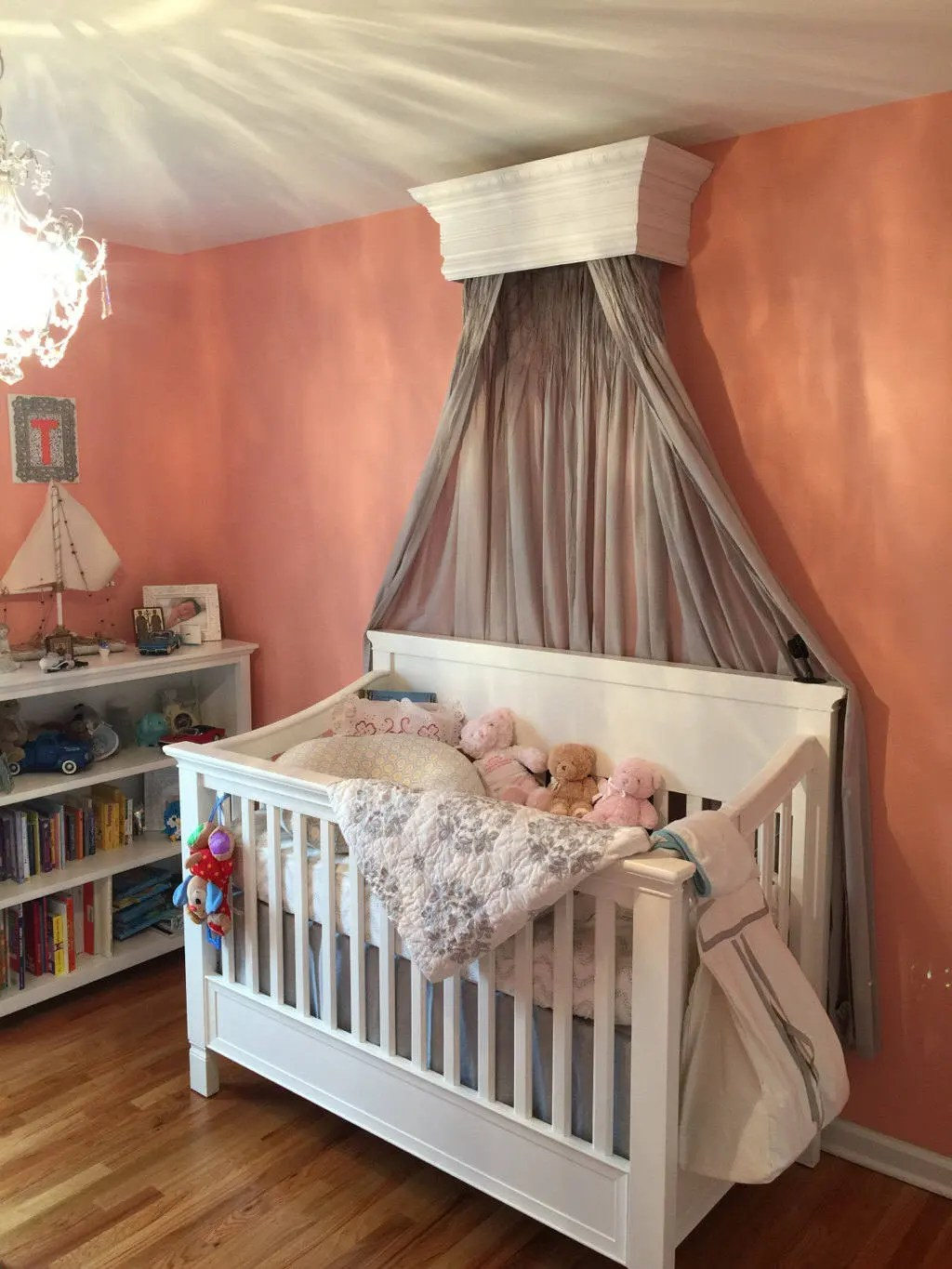 Bed Crown Canopy Crib Crown Unpainted Wall Teester Bedroom on Wall Teester Bed Crown  id=54419