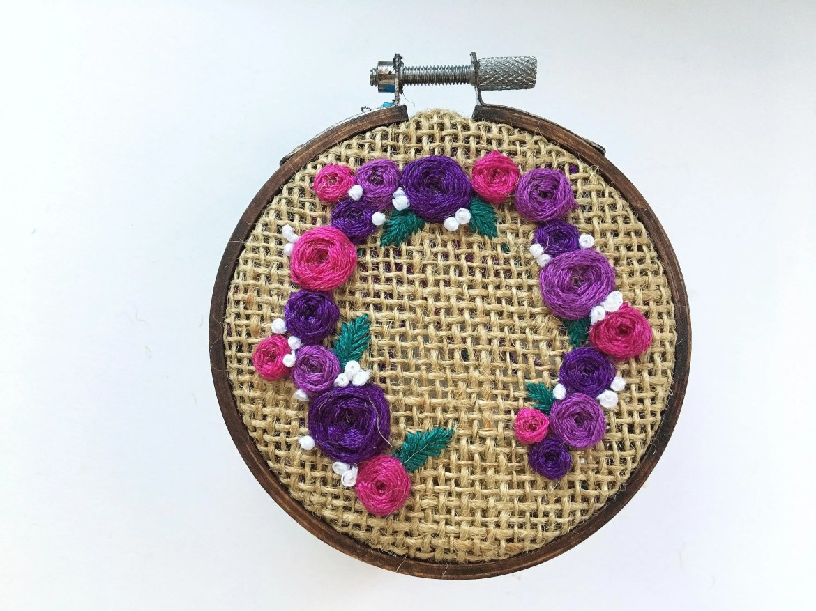 Purple Floral Wreath // H...