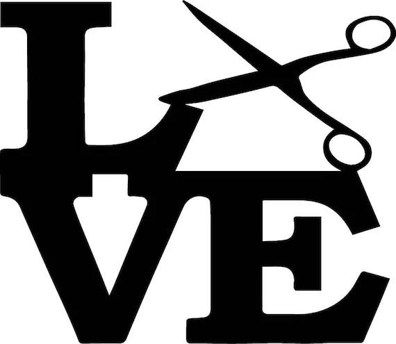 Download Love Hair Salon Beauty Scissors Haircut Design Barber ...