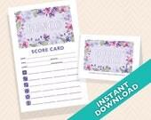 Orchid Bunco Scorecard an...
