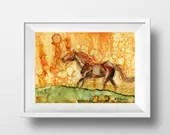 Horse Painting Art Print ...