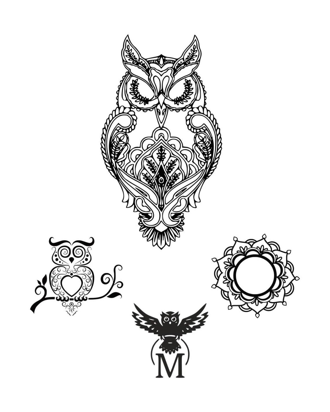 Download Owl svg Mandala owl svg Zentangle owl svg Mandala SVG Digital