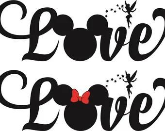 Download Mickey love svg | Etsy
