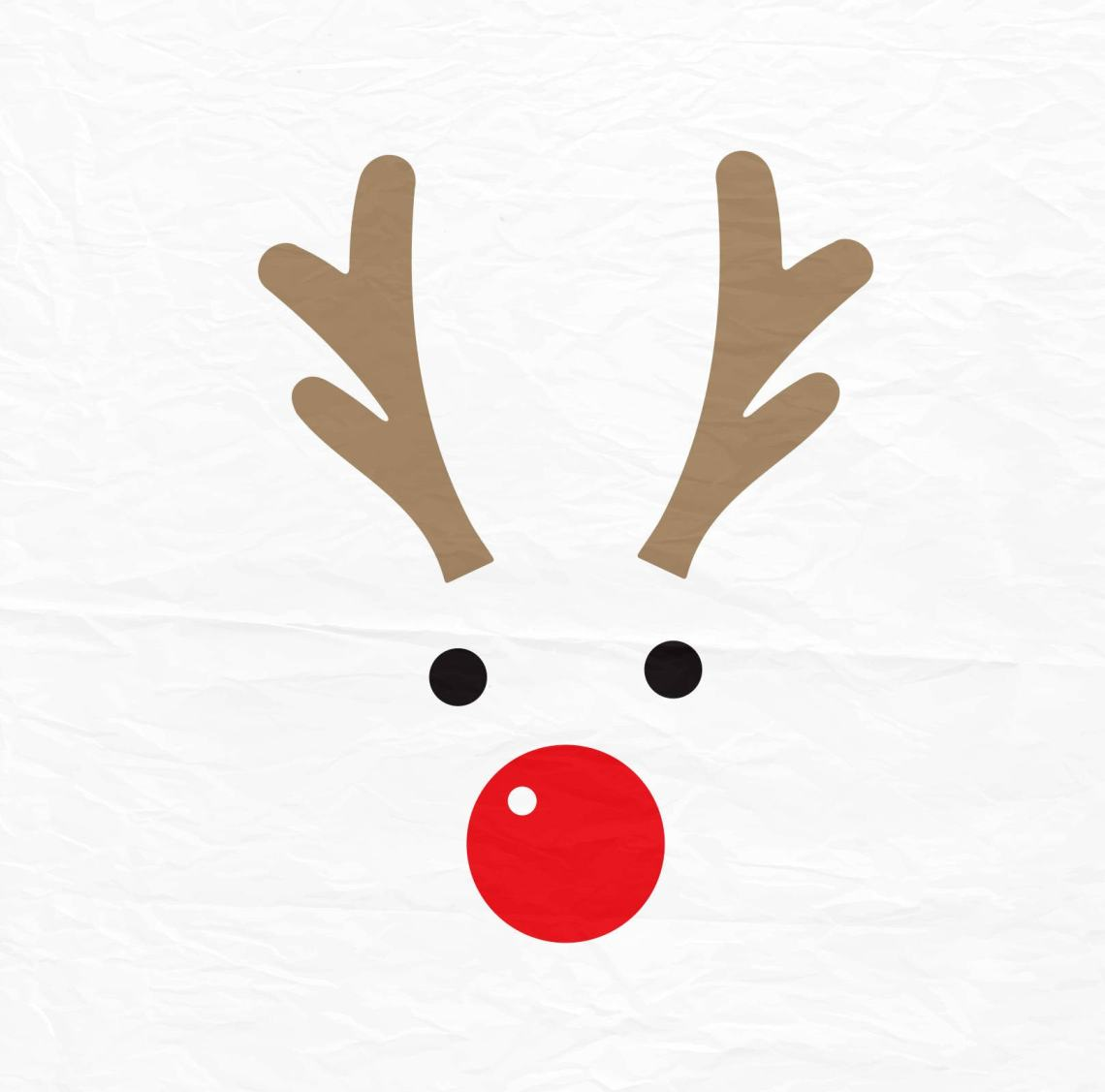 Download Rudolph Christmas Reindeer SVG Reindeer Face SVG Reindeer