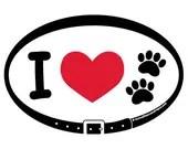 DECAL - I Love (heart) Do...