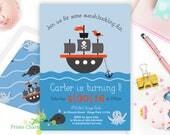Pirate Ship Party Invite ...