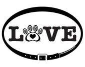 DECAL - LOVE w/ Heart & S...