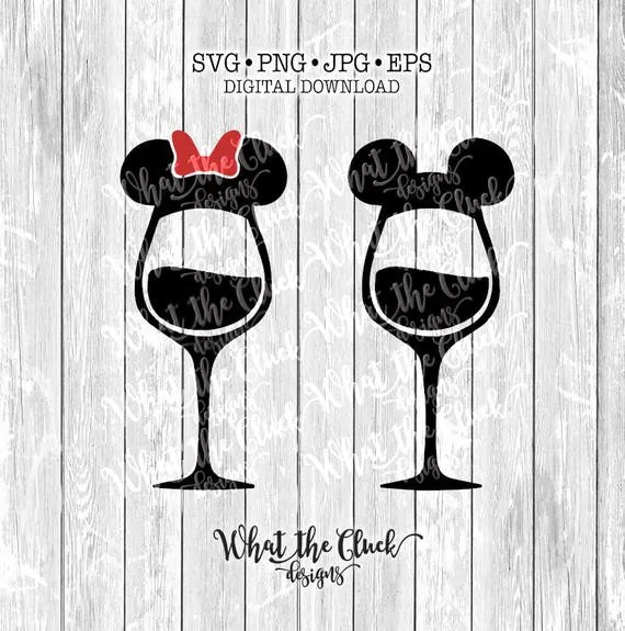 Mickey And Minnie Mouse Wine Glasses Digital File Download