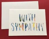 Watercolor text sympathy ...
