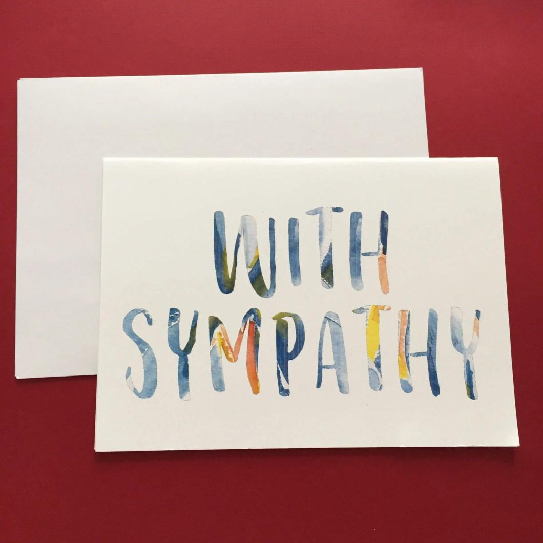 Watercolor text sympathy ...
