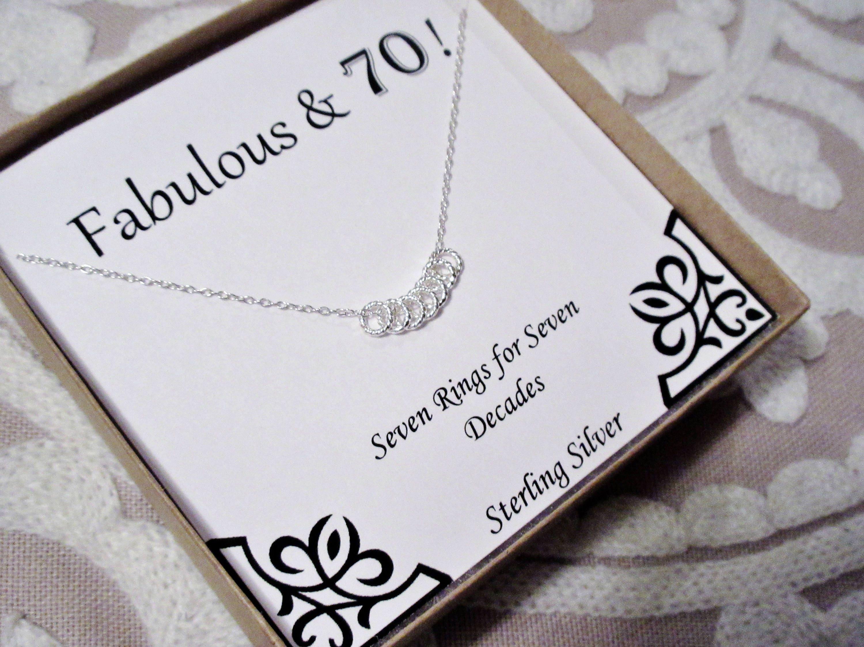 30th 40th 50th 60th 70th 80th 90th Birthday Present Necklace