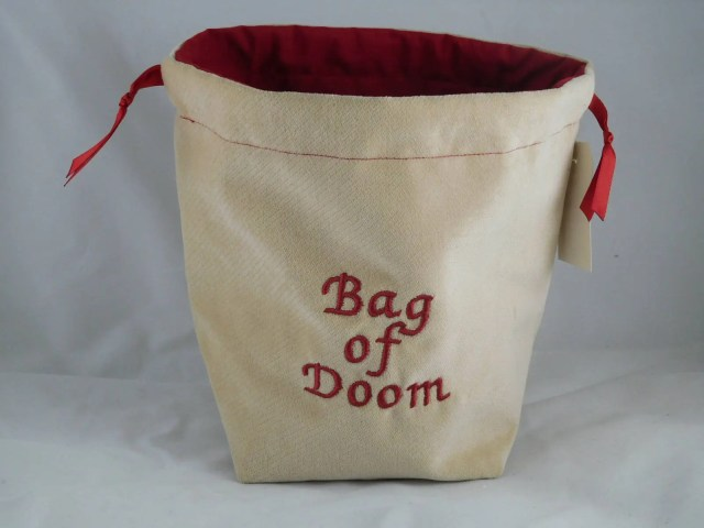 Bag of Doom on tan velvet...