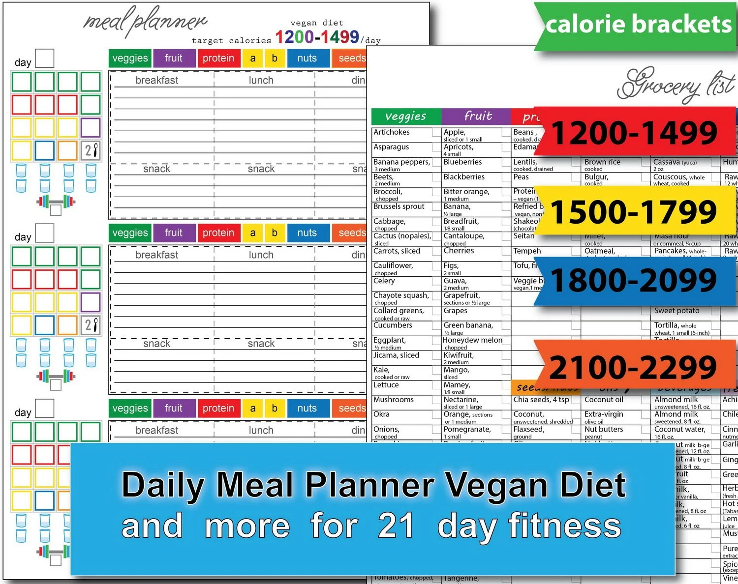 21 Day Fitness Bundle Calorie Tracker