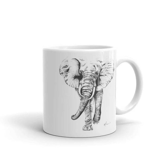 Mug, elephant, safari, an...
