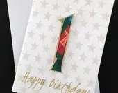 First birthday card, numb...