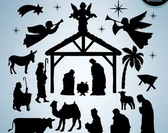 Download Nativity silhouette | Etsy