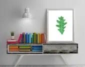 Green Leaf Print. Botanic...
