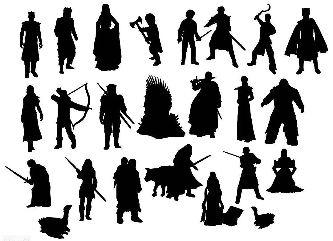 Game Of Thrones Cut Outs Silhouette Shapes X 24 Great